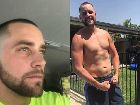 Lloyd shows off his weight loss just 4 weeks after starting the challenge.