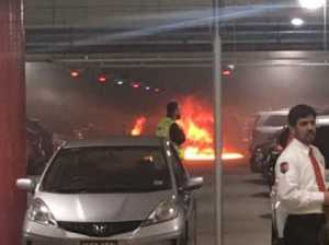 Carpark fire's online hoax spread by trolls