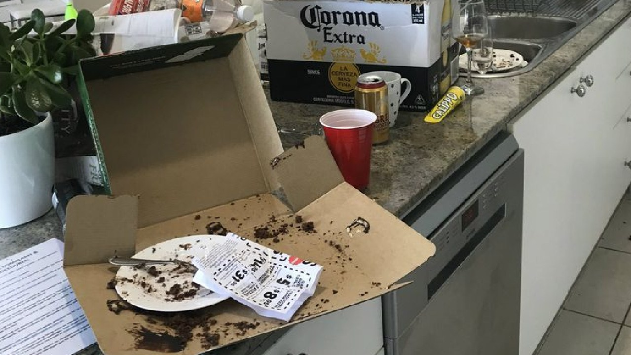 Horror mess left by Airbnb guest. Picture: A Current Affair