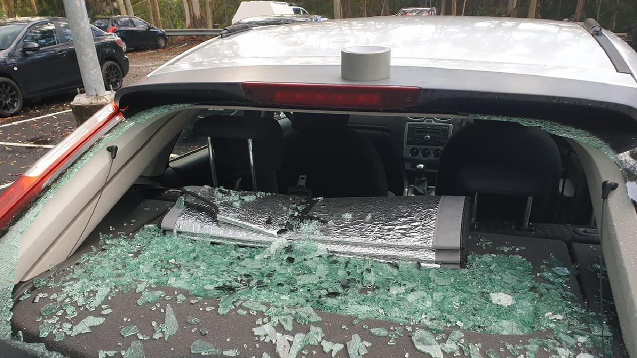 If your car is written-off because of hail damage you may be able to repair it. Source: Twitter