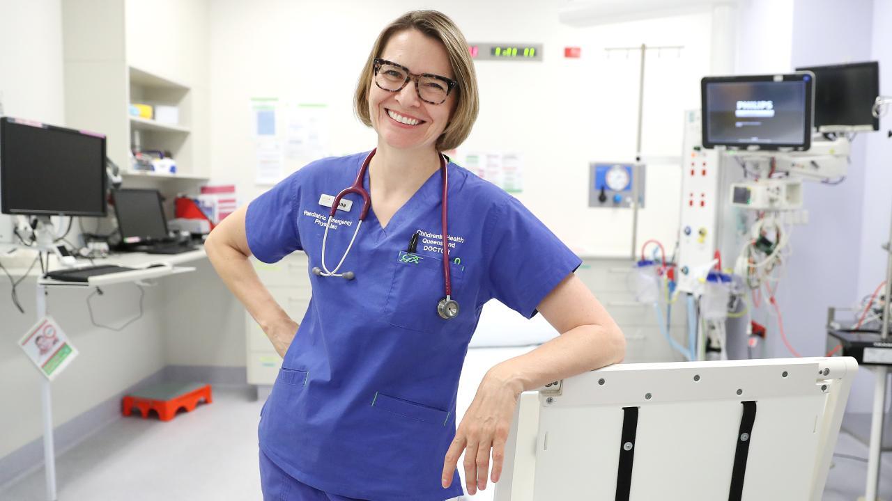 Queensland Children's Hospital emergency doctor Fiona Thomson. Picture: Peter Wallis