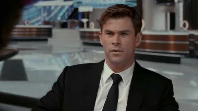 Chris Hemsworth in the new Men In Black