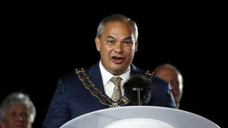 Tom Tate speaking at the Commonwealth Games. (Photo by Scott Barbour/Getty Images)