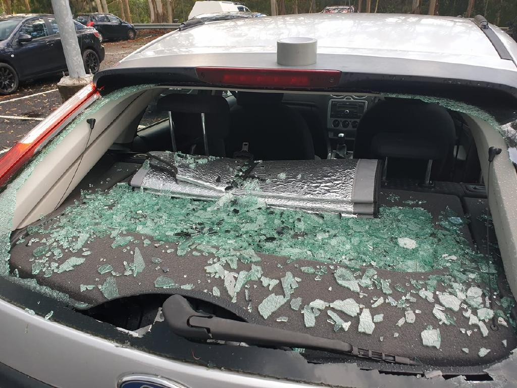 A wrecked car on the Central Coast. Source: Twitter