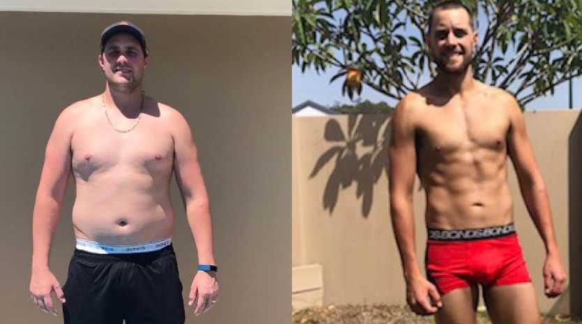 Lloyd Goodall lost a staggering 25kg in the challenge.