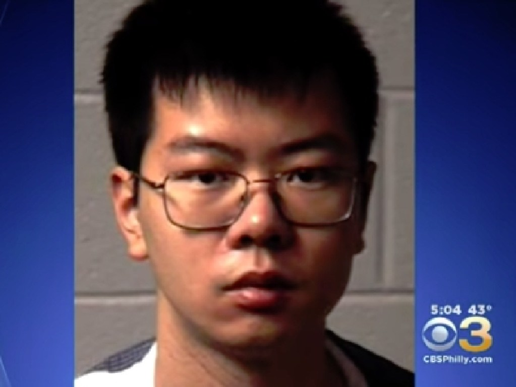 Yukai Yang, a 22-year-old chemistry student, tried to poison his African-American roommate over a period of several months. Picture: CBS Philly