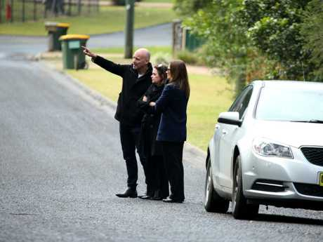 William Tyrrell search. Deputy state coroner Harriet Graham with Detective Chief Inspector Gary Jubelin visit search sites near the town of Kendall. Picture: Nathan Edwards