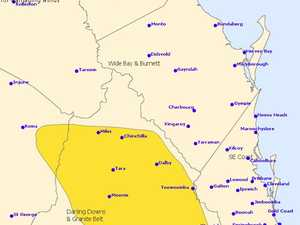 WARNING: Damaging winds, severe storms heading for Toowoomba