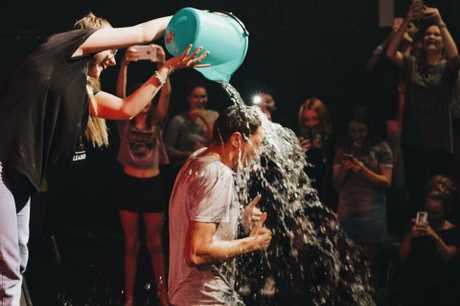 FUN TIMES: Getting drenched at Empire Youth at CityEdge in Caloundra.