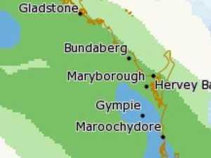 Possible rain in Bundaberg region this evening