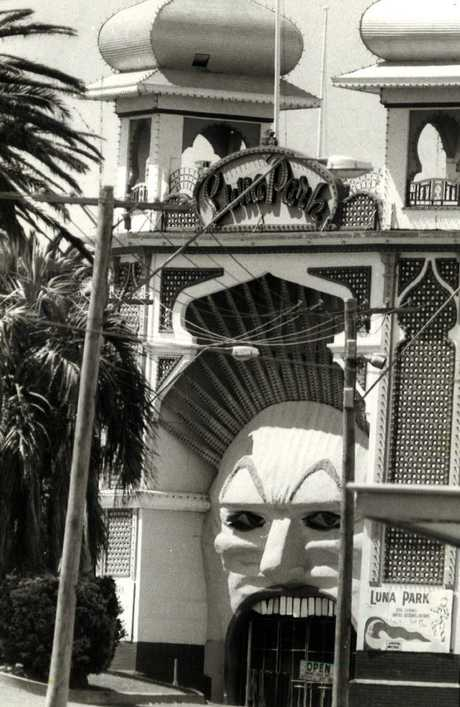 The entrance to Luna Park on the Esplanade in St Kilda in 1978. Picture: News Corp Australia