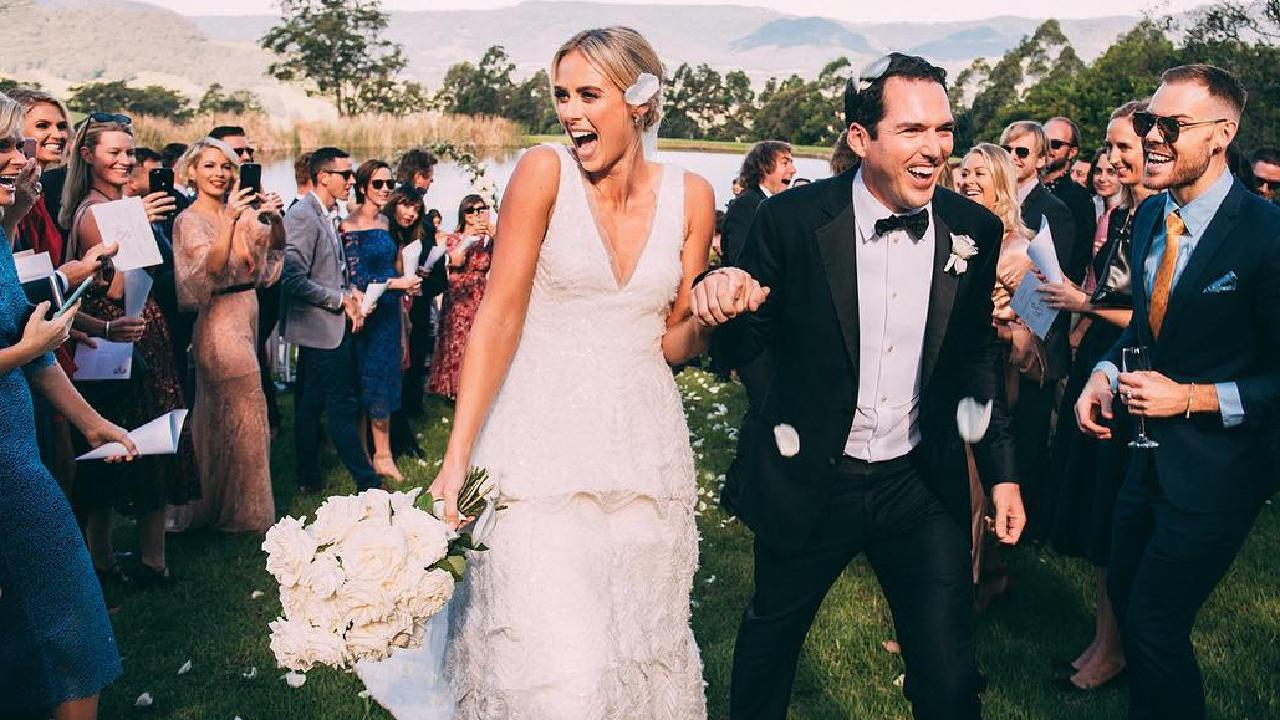 "Her wedding to Peter Stefanvoic was branded as ""the wedding of Australia's television sweethearts"". Picture: Instagram/@sylviajeffreys"
