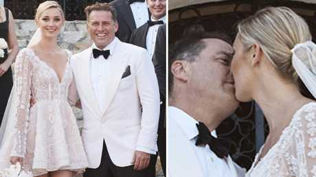 Karl Stefanovic and Jasmine Yarbrough tie the knot. Picture: Supplied