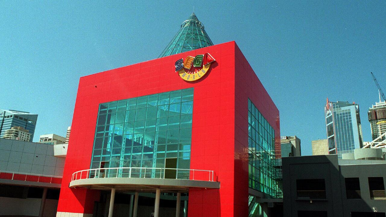 The old Sega World building, Australia's first indoor theme park. Picture: News Corp Australia