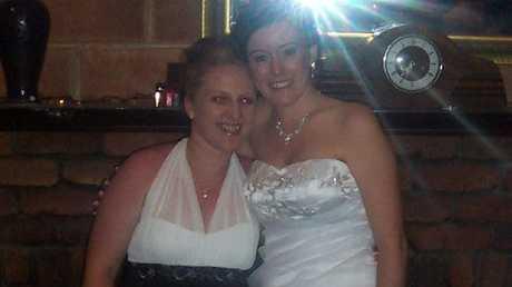 Natasha Ryan on her wedding day to Scott Black.