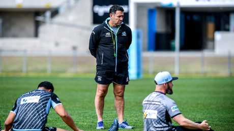 No one can be sure who'll be coaching Cronulla next season. (AAP Image/Brendan Esposito)