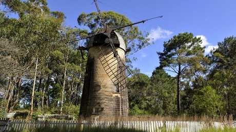The old windmill at Old Sydney Town. Picture: News Corp Australia