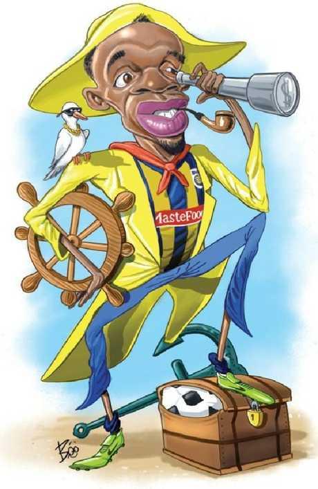 Usain Bolt's journey as a Mariner didn't last long.