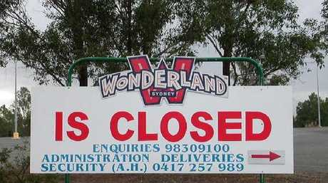 A sign after Wonderland shut up shop. Picture: Chris Watts
