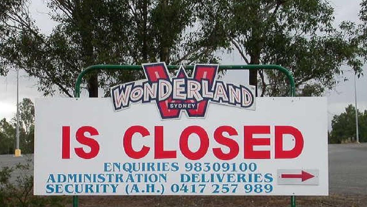 A sign after Wonderland shut up shop. Picture: Chris Watts