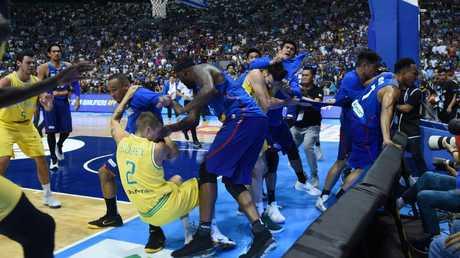 "The ""basketbrawl"" shocked fans around the world. (George Calvelo/NurPhoto/Getty Images)"