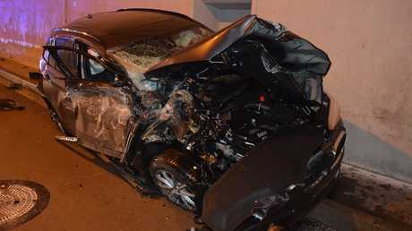 Pictures shared on social media by the Slovak Police force show the extent of the damage caused to the car.