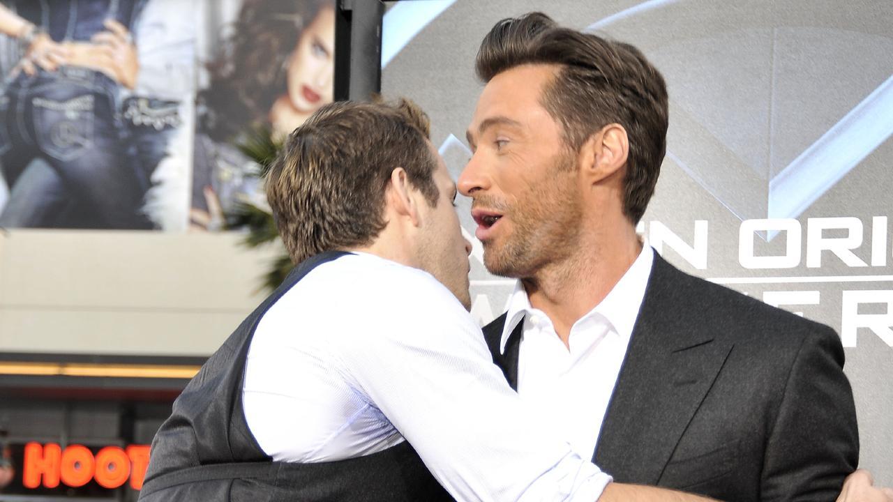 Hugh Jackman teams up with Jake Gyllenhaal to prank Ryan Reynolds. Picture: Getty