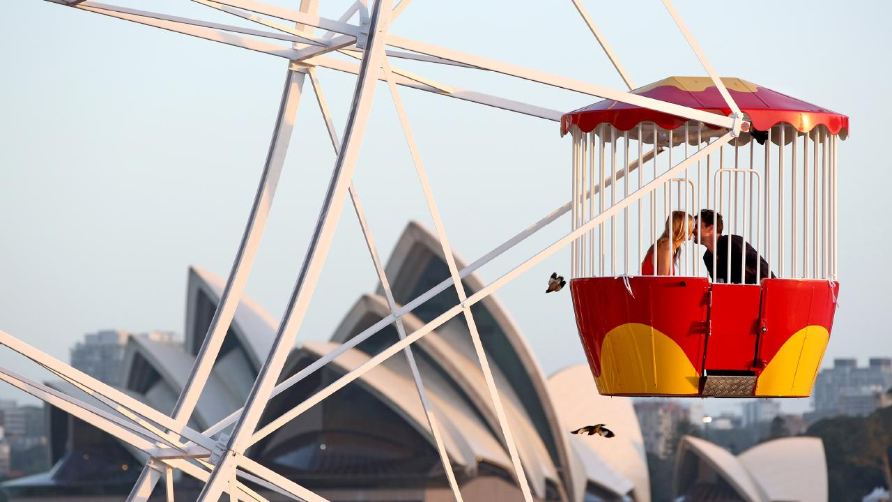 Luna Park Sydney's ferris wheel dining. Picture: Damian Shaw