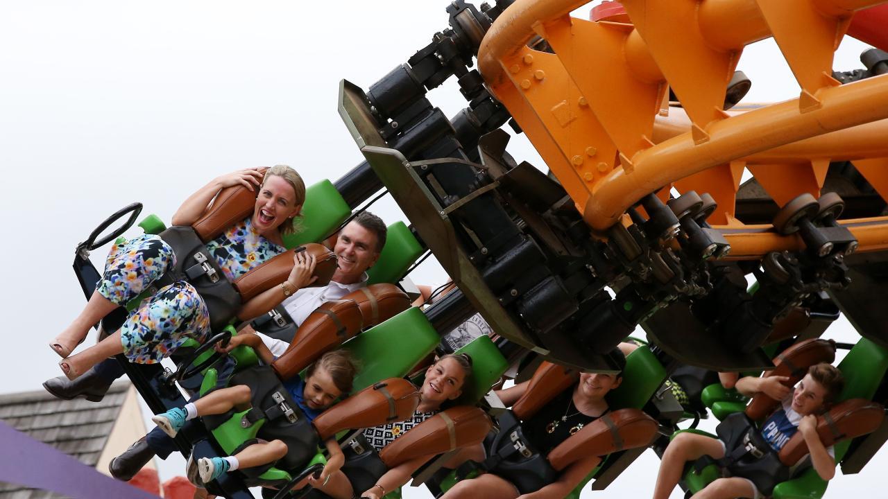 Dreamworld's Madagascar roller coaster. Picture: Scott Fletcher