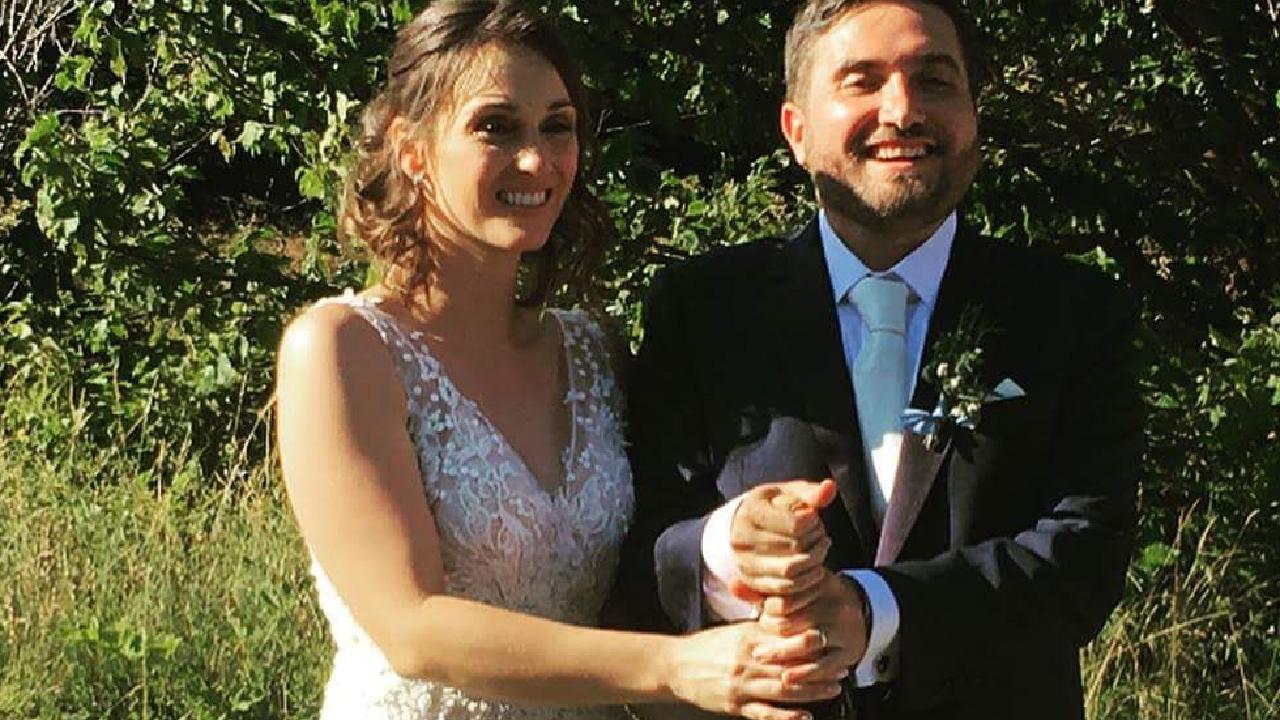 Meagan Chiuchiarelli Sebastiani and Alberto on their wedding day.