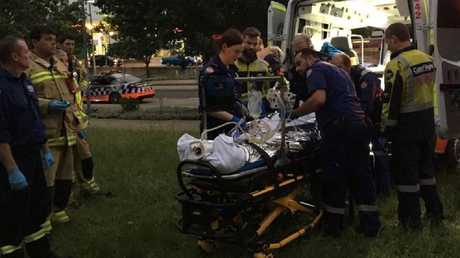 A man is in a critical condition following the explosion. Picture: CareFlight