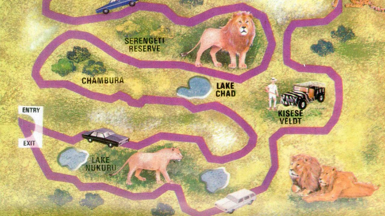 A map of one of the African Lion Safari locations. Picture: News Corp Australia