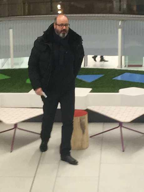 Clive Mensink in a shopping centre in Sofia, Bulgaria. Exclusive Picture: Ella Pellegrini