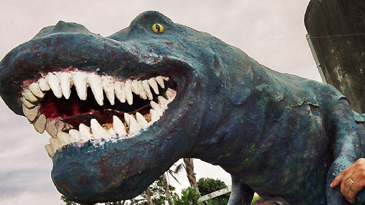 A dinosaur at now-closed Fantasy Glades in NSW. Picture: News Corp Australia