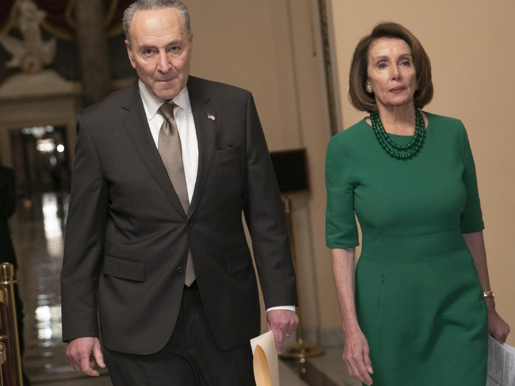 Senate Minority Leader Chuck Schumer and House Democratic Leader Nancy Pelosi said the party will not support the border wall $7 billion. Picture: AP Photo/J. Scott Applewhite