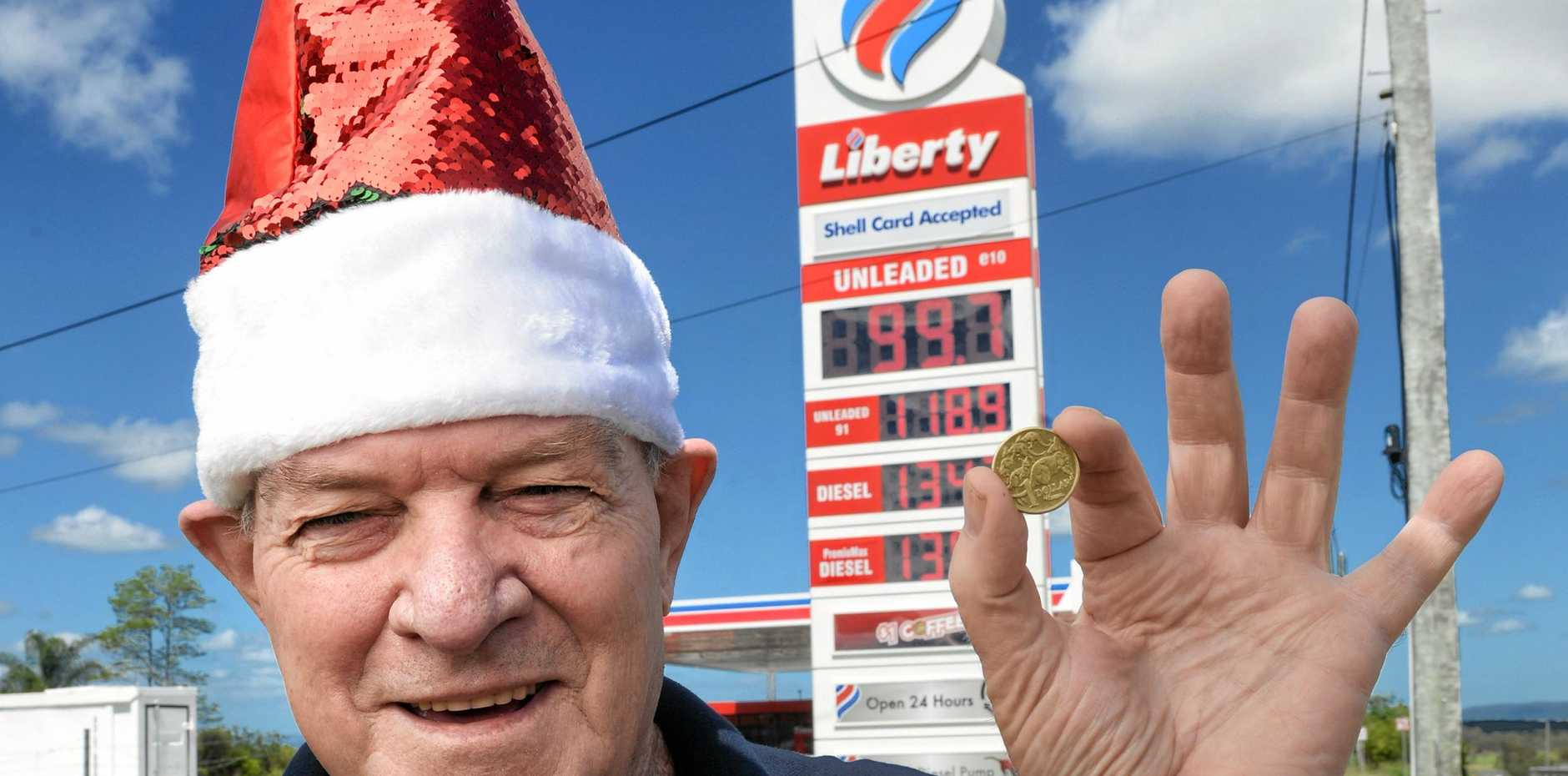 CHEAP: Liberty Yamanto manager Shay Elman is selling fuel for less than a dollar a litre this Christmas.