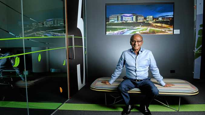 PLANNING: Greater Springfield chairman Maha Sinnathamby plans to continue working at Springfield Tower for a long time.