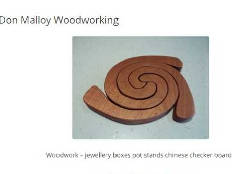 Donald Malloy worked as a woodworker, selling his wares at local Coffs Harbour markets and online. Source: Supplied