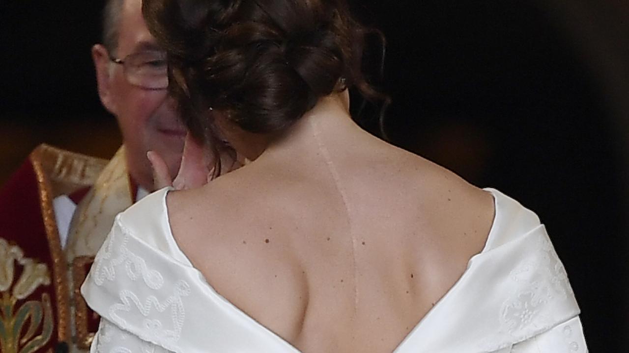 Princess Eugenie of York arrives for her wedding to Jack Brooksbank in Windsor Castle on October 12, 2018 in Windsor, England. Picture: Toby Melville/Getty