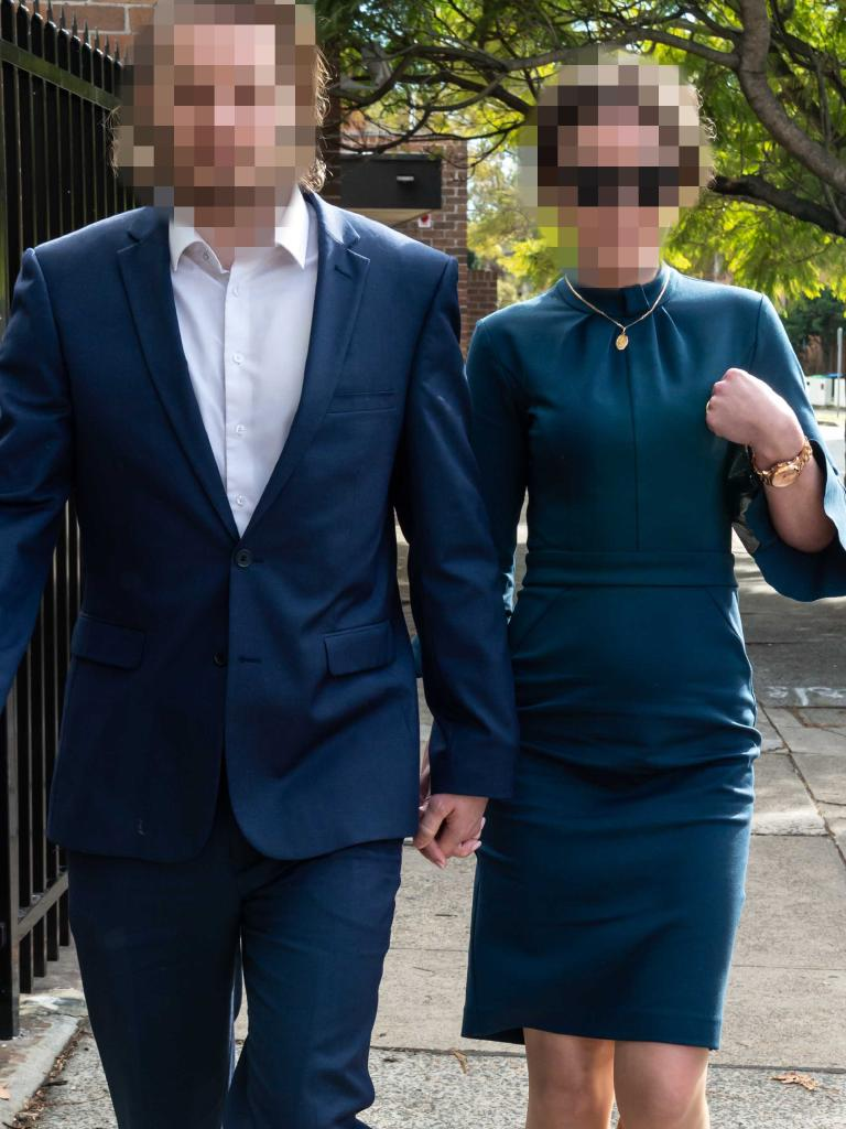 The Sydney couple can't be identified. Picture: Monique Harmer
