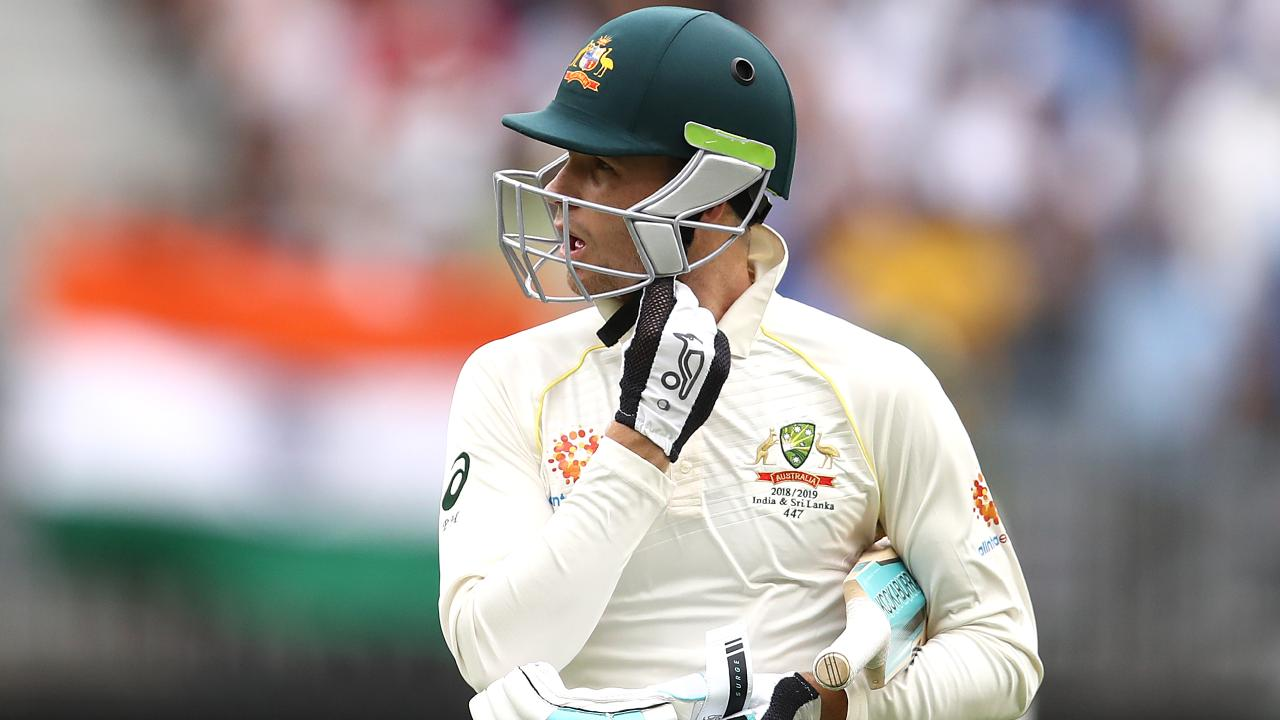 Peter Handscomb failed to train in his usual slip position. Picture: Getty