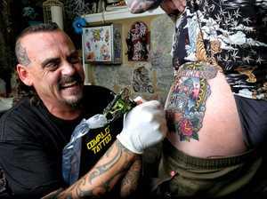 Man gets Ipswich tattooed on his body