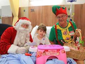 Santa and friends cheer up patients at Mackay Base Hospital
