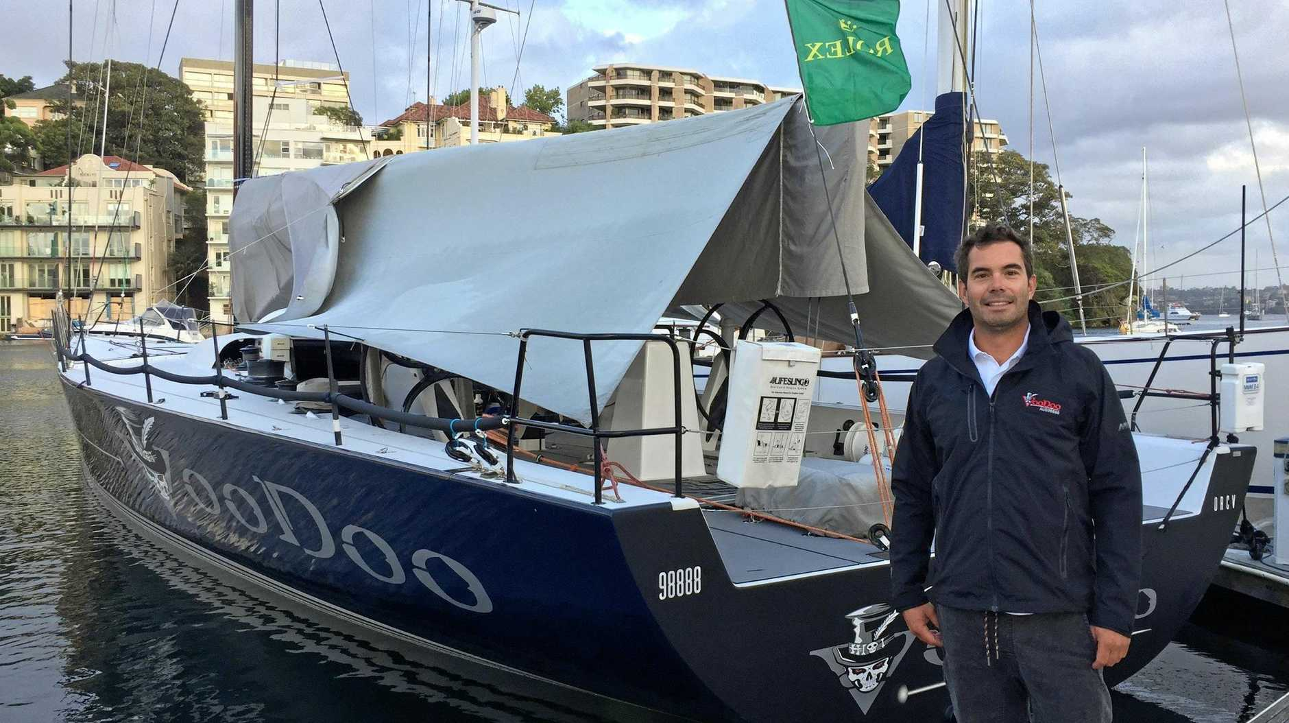 SET TO SAIL: Tim Grant and Voodoo.