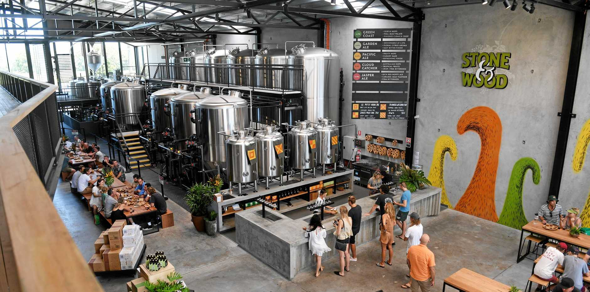 EXCITING TIMES: The new Stone & Wood Brewery is a space where you will be able to try out some