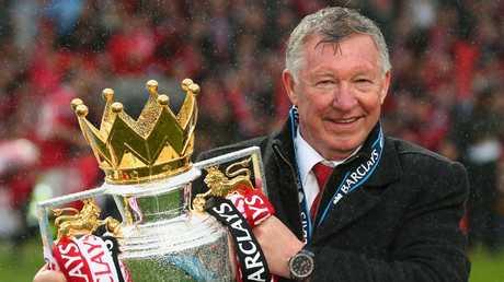 Sir Alex Ferguson is back at Old Trafford!