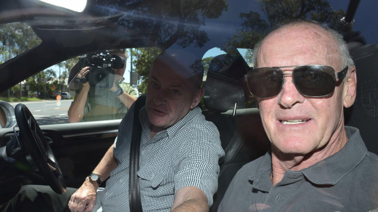 Chris Dawson is driven away from Silverwater jail on Monday afternoon. Picture: Flavio Brancaleone