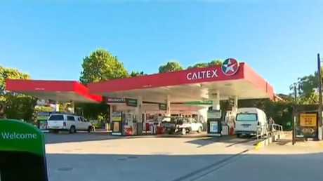 The petrol station where the man allegedly started his stalking. Picture: 7 News
