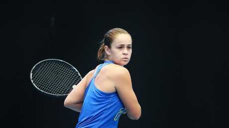 Ash Barty at Pat Rafter Arena in Tennyson, Brisbane. Picture: AAP Image