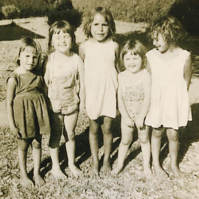 Rosemary (far left), Barbara (middle), Sharon (far right),
